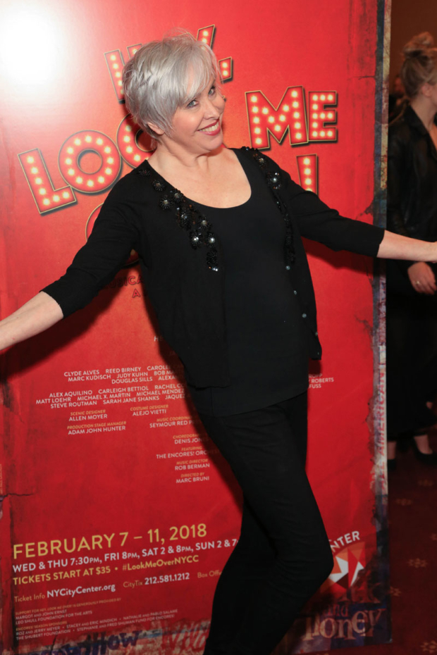 <p>Tony nominee Nancy Opel was ready for a little fun.</p><br />(© Tricia Baron)