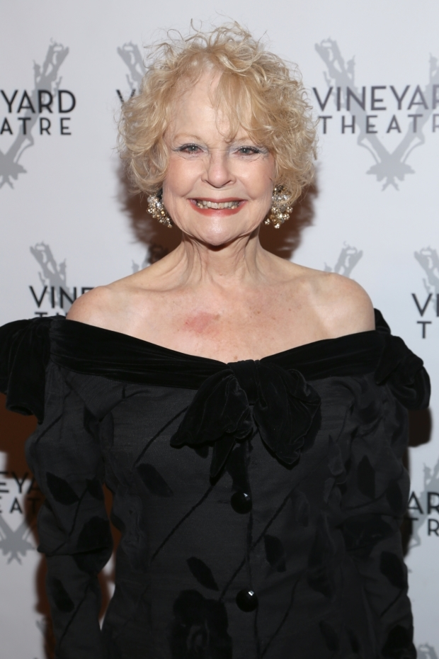 <p>Tony nominee Penny Fuller stopped for a photo.</p><br />(© Tricia Baron)