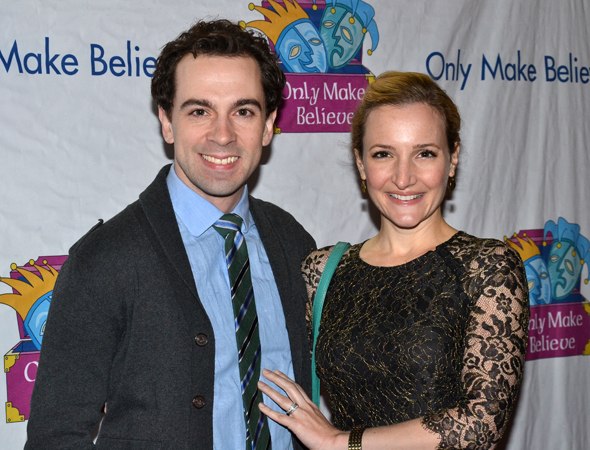<p>Tony nominee Rob McClure shares the evening with his wife, Maggie Lakis.</p><br />(© David Gordon)