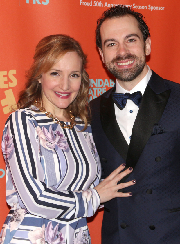 <p>Tony nominee Rob McClure (who plays Tim Allgood) shares the evening with his wife, Maggie Lakis.</p><br />(© David Gordon)