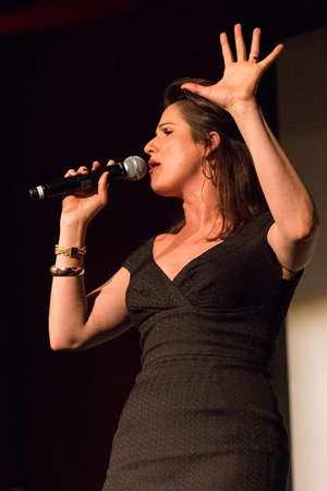 <p>Tony nominee Stephanie J. Block entertained the crowd.</p><br />(© Ashly Covington/Covington Portraits)