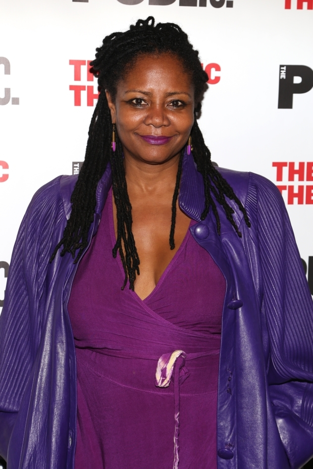 <p>Tony nominee Tonya Pinkins made an appearance at the opening of <em>Gently Down the Stream</em>.</p><br />(© Tricia Baron)