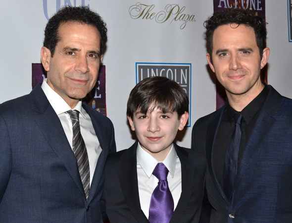 <p>Tony Shalhoub, Matthew Schechter, and Santino Fontana lead the cast of <em>Act One</em> as Moss Hart at various ages.</p><br />(© David Gordon)