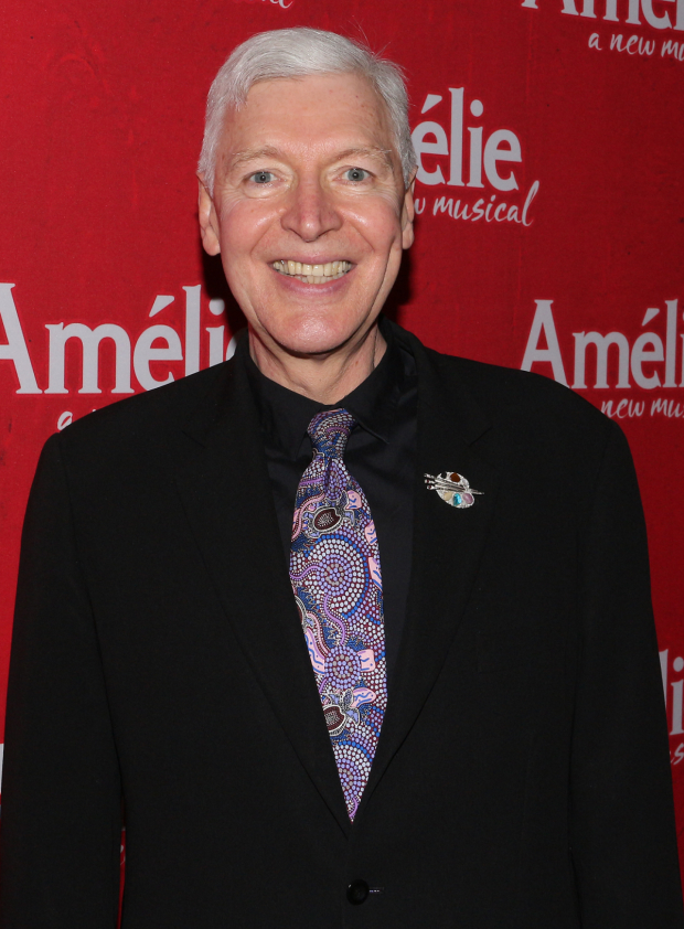 <p>Tony Sheldon is proud to celebrate his latest Broadway opening night.</p><br />(© David Gordon)