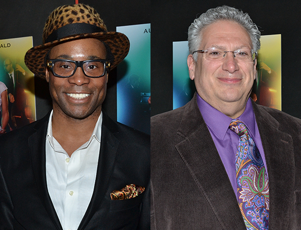 <p>Tony winners Billy Porter and Harvey Fierstein made up the <em>Kinky Boots</em> coterie.</p><br />(© David Gordon)