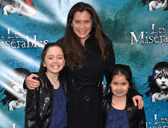 <p>Tony-winning director Diane Paulus is thrilled to introduce her daughters Natalie and Katharine to the legendary <em>Les Miserables</em>.</p><br />(© David Gordon)