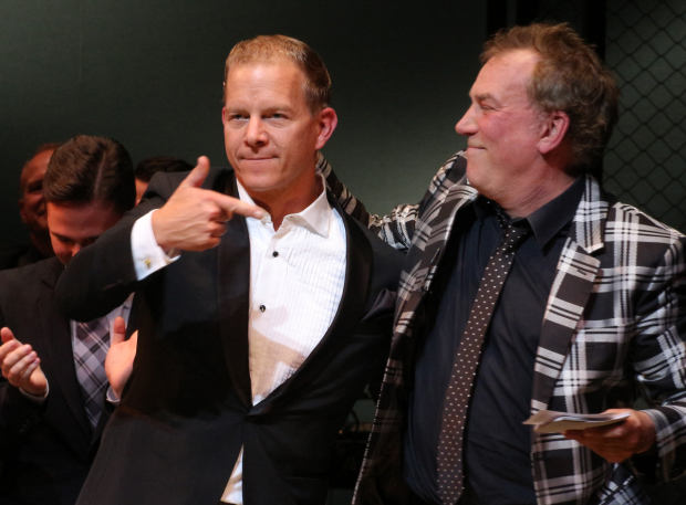 <p>Tony-winning Tommy DeVito, Christian Hoff, gives credit to the show&#39&#x3B;s director, Des McAnuff.</p><br />(© David Gordon)