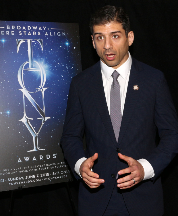 <p>Tony Yazbeck, Best Leading Actor in a Musical nominee for <em>On the Town</em>.</p><br />(© David Gordon)