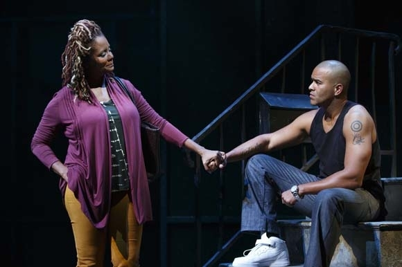 <p>Tonya Pinkins and Christopher Jackson play a mother and son.</p><br />(© Joan Marcus)