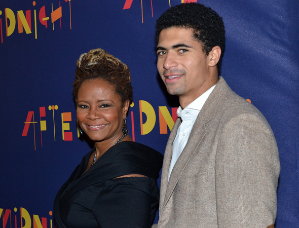 <p>Tonya Pinkins shares the opening night with her son Miles.</p><br />(© David Gordon)