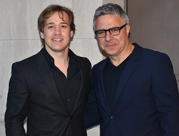 <p>T.R. Knight and Neil Pepe attend the show together after collaborating in 2010 on the Broadway revival of <em>A Life in the Theatre</em>.</p><br />(© David Gordon)