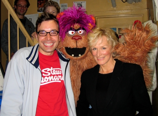 <p>Trekkie Monster says hi to Jimmy Fallon and Glenn Close.</p><br />(© Joseph Marzullo)