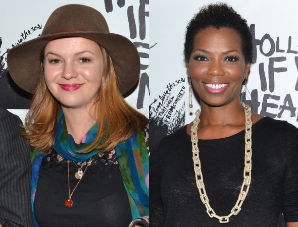 <p>TV veterans Amber Tamblyn and Vanessa Williams took time out to pose for photos before the show.</p><br />(© David Gordon)