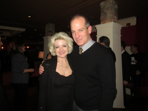 "<p>Two-time Tony nominee Alison Fraser and John Bolger, both of whom appear frequently on the George Street Playhouse stage, turn out to celebrate Artistic Director David Saint's production of ""Clever Little Lies.""</p><br />(© Jackie Brady)"