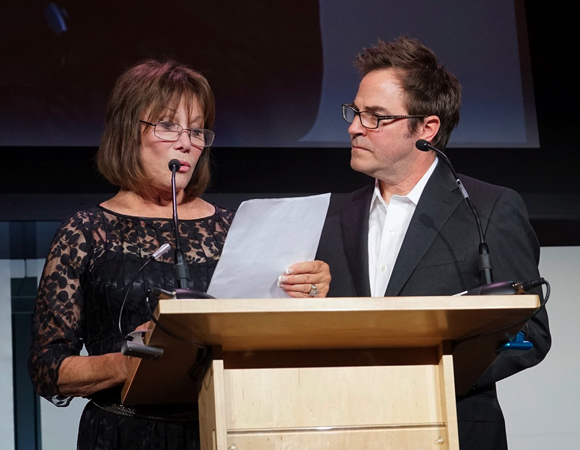 <p>Two-time Tony nominee Michele Lee and Tony winner Roger Bart take to the stage at the Actors Fund gala.</p><br />(© Nina Prommer/Milestone Photos)