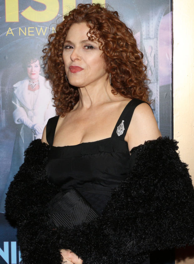 <p>Two-time Tony winner Bernadette Peters poses for photos before the show starts.</p><br />(© David Gordon)