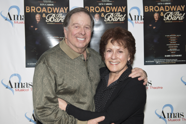 <p>Two-time Tony winner Judy Kaye poses for photos with her husband, David Green.</p><br />(© Allison Stock)