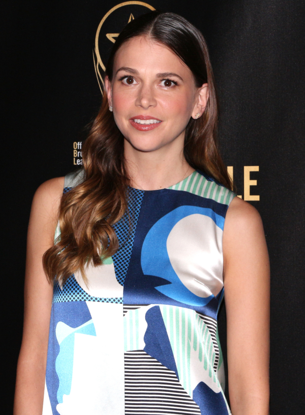 <p>Two-time Tony winner Sutton Foster presented the Lortel for Outstanding Musical to <em>Hamilton</em>.</p><br />(© David Gordon)