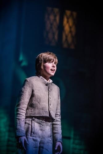 <p>Tyler Moran stars in the title role as the orphan, Oliver.</p><br />(© Billy Bustamante)