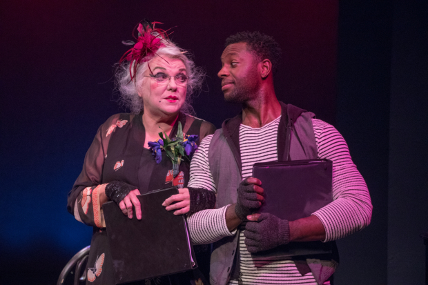 <p>Tyne Daly and Kristopher Thompson-Bolden in <em>Dear World</em>.</p><br />(© Ben Strothmann)