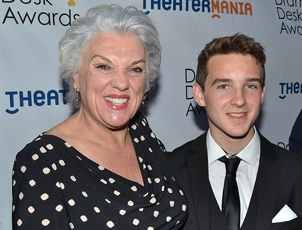 <p>Tyne Daly, Outstanding Lead Actress in a Play nominee for <em>Mothers &amp&#x3B; Sons</em>, with her nephew, Gil.</p><br />(© David Gordon)