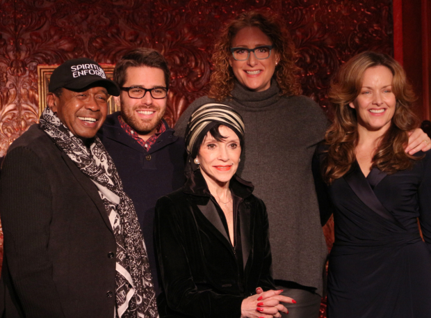 <p>Upcoming Feinstein&#39&#x3B;s/54 Below guests Ben Vereen, Josh Young, Liliane Montevecchi, Judy Gold, and Alice Ripley take a group photo.</p><br />(© David Gordon)