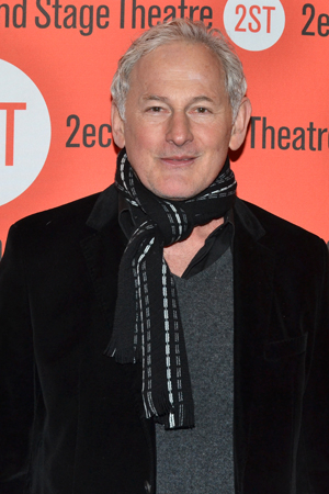 <p>Victor Garber arrives at Second Stage Theatre for <em>Little Miss Sunshine</em>.</p><br />(© David Gordon)