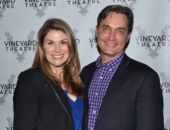<p>Vineyard veteran Heidi Blickenstaff (<em>[title of show]</em> and <em>Now. Here. This.</em>) spends the opening with her boyfriend, Nicholas Rohlfing.</p><br />(© David Gordon)