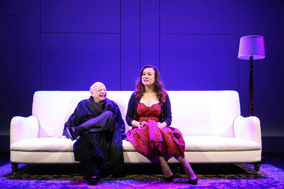 <p>Wallace Shawn sits down with Jennifer Tilly.</p><br />(© Joan Marcus)