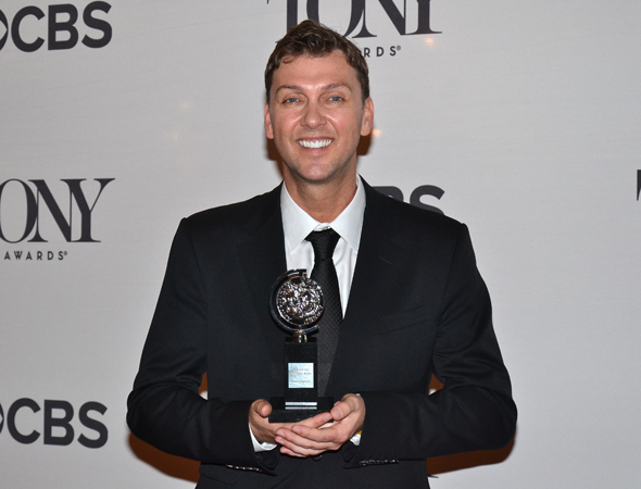 <p>Warren Carlyle, winner of the Best Choreography trophy for <em>After Midnight</em>.</p><br />(© David Gordon)