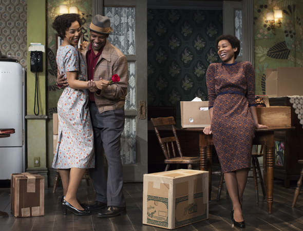 <p>Washington and Okonedo share a scene with Anika Noni Rose, who takes on the role of Beneatha Younger.</p><br />(© Brigitte Lacombe)
