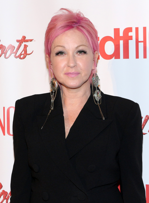 <p>Broadway is always delighted to see Cyndi Lauper!</p><br />(© David Gordon)