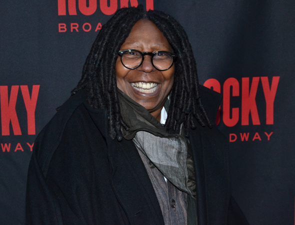 <p>Whoopi Goldberg is thrilled to be on hand for opening night.</p><br />(© David Gordon)