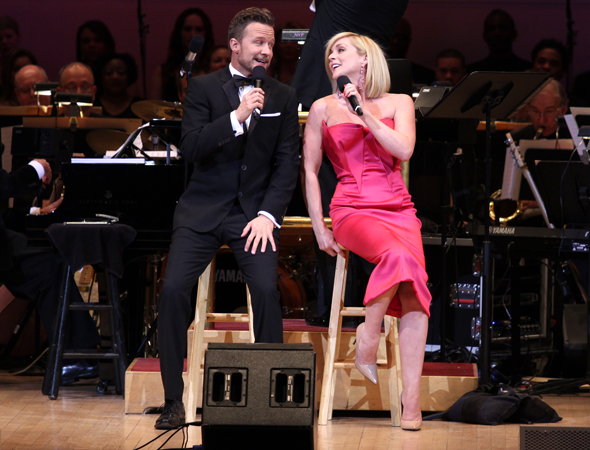 <p>Will Chase and Jane Krakowski duet on &quot&#x3B;Here&#39&#x3B;s Love!&quot&#x3B; from the film <em>Down With Love</em>.</p><br />(© David Gordon)