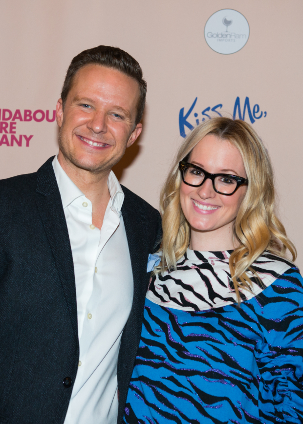 <p>Will Chase poses with his girlfriend, singer and songwriter Ingrid Michaelson.</p><br />(© Allison Stock)