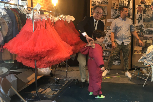 <p>William Ivey Long holds a costume fitting.</p><br />(© David Gordon and Seth Walters)