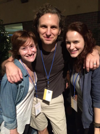 <p>With one of our favorites, Mr. Sebastian Arcelus, soon to be fondly referred to as Daddy Arcelus (or Daddy-O to those particularly close to him!).</p><br />(© Rachel Brosnahan)