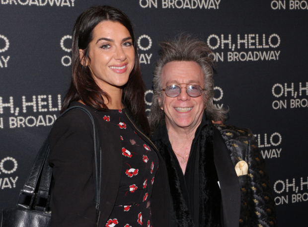 <p>Writer and performer Jeffrey Gurian heads into the Lyceum Theatre with a date by his side.</p><br />(© David Gordon)