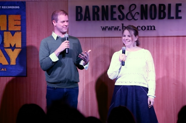 <p>Writers David Hein and Irene Sankoff gave remarks during the event.</p><br />(© Tricia Baron)