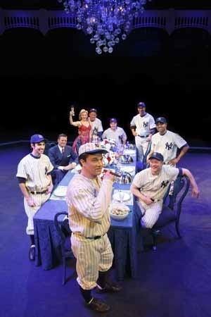 <p>Yankees past and present congregate around a dining room table.</p><br />(© Joan Marcus)