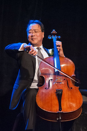 <p>Yo-Yo Ma performing at  the Actors&#39&#x3B; Shakespeare Project gala.</p><br />(© Stratton McCrady)