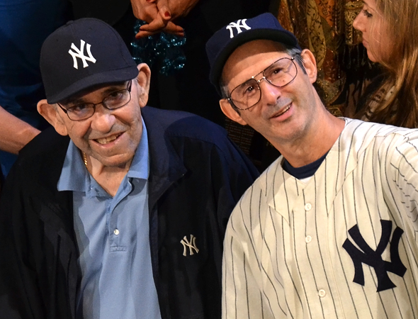 <p>Yogi Berra poses alongside actor Richard Topol, who portrays the baseball legend in the drama.</p><br />(© David Gordon)
