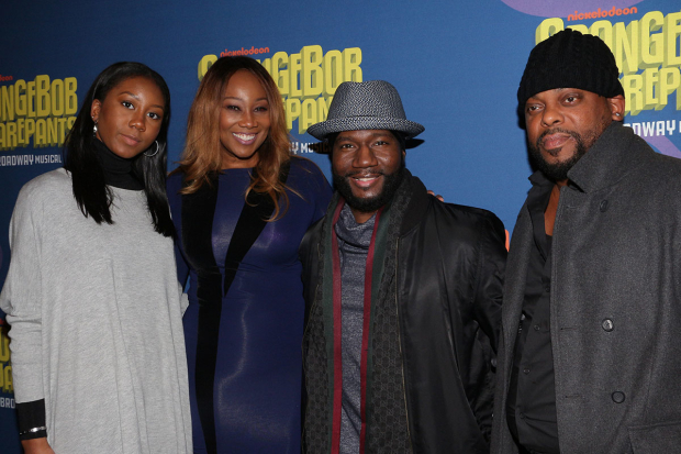 <p>Yolanda Adams (second from left) poses with the team that helped her create the tune &quot&#x3B;Super Sea Star Savior.&quot&#x3B;</p><br />(© David Gordon)