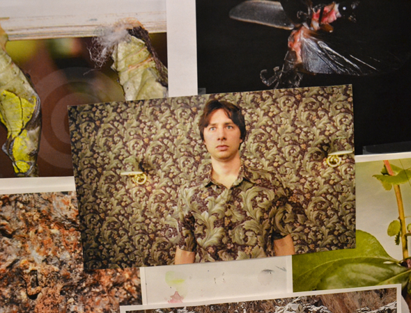 "<p>Zach Braff blending in with the wall in a scene from <em>Garden State</em> was partially Long's inspiration for the <em>Big Fish</em> Witches. That was before Long found out he and Braff would soon be working together. ""When I pulled this, I didn't know he was going to be in <em>Bullets Over Broadway</em>."" </p>"