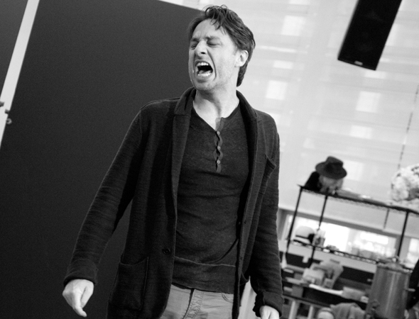 <p>Zach Braff gets a little intense during &quot&#x3B;I&#39&#x3B;ve Found a New Baby.&quot&#x3B;</p><br />(© David Gordon)