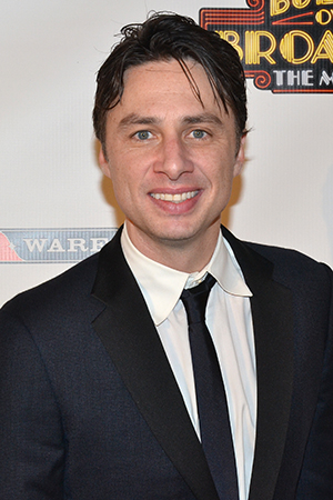 <p>Zach Braff is proud to make his Broadway debut in the role of playwright David Shayne.</p><br />(© David Gordon)