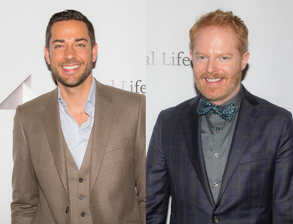 <p>Zachary Levi and Jesse Tyler Ferguson, Distinguished Performance Award nominees for <em>First Date</em> and <em>The Comedy of Errors</em>, respectively.</p><br />(© Seth Walters)