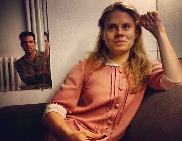 <p>Zachary Quinto and Celia Keenan-Bolger hang out backstage in costume.</p><br />© (Photo via zacharyquinto)