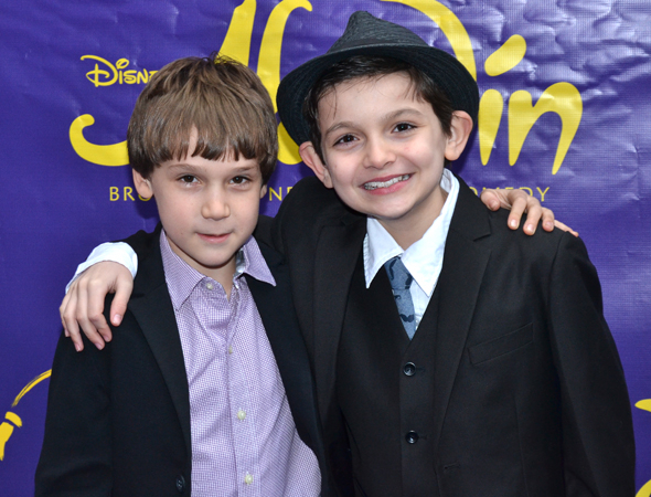 <p>Zachary Unger and Luca Padovan are the youngest cast members of Disney&#39&#x3B;s Broadway production of <em>Newsies</em>.</p><br />(© David Gordon)