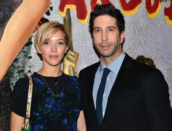 <p>Zoe Buckman and David Schwimmer are among the many pals of <em>Domesticated</em> director Anna D. Shapiro.</p><br />(© David Gordon)